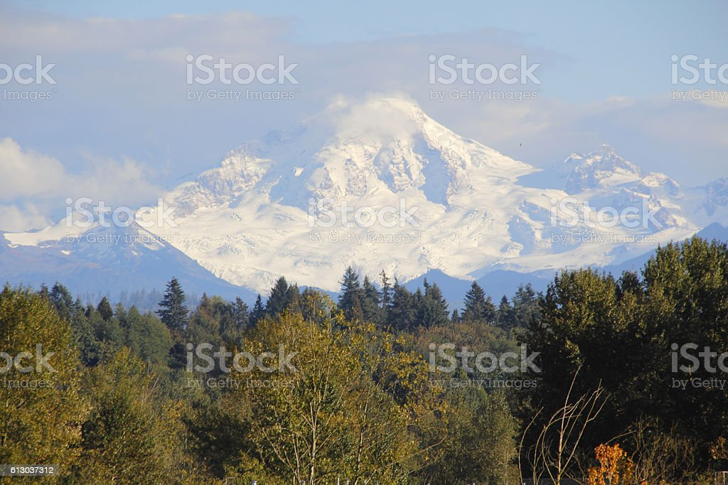 Mount Baker Washington Snow-pack stock photo