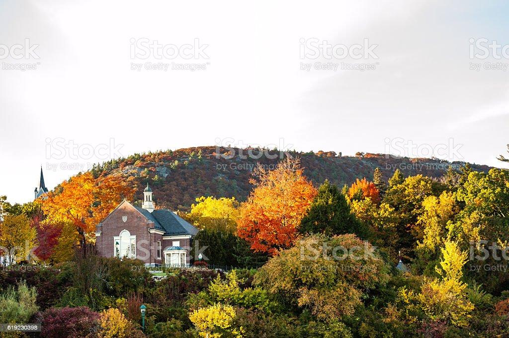 Mount Battie, Camden, Maine in autumn stock photo