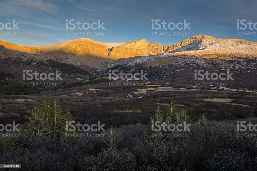 Mount Bierstadt stock photo