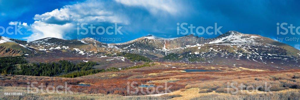 Mount Bierstadt - The Colorado Rocky Mountains stock photo