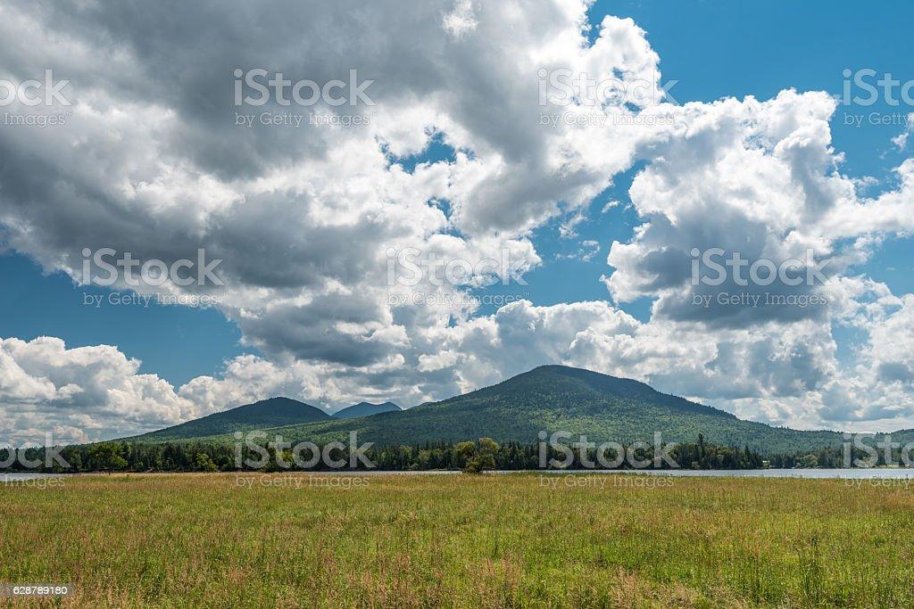 Mount Bigelow in Maine stock photo