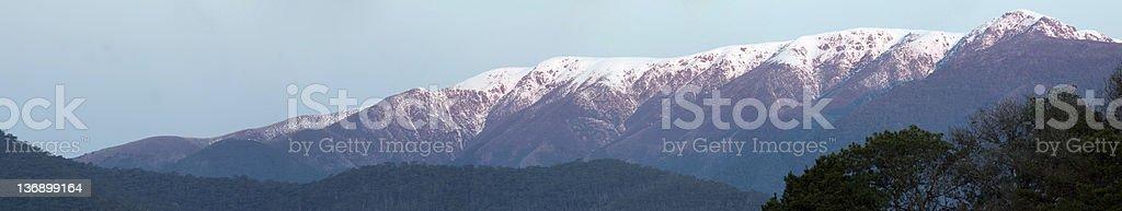 Mount Bogong Panorama stock photo