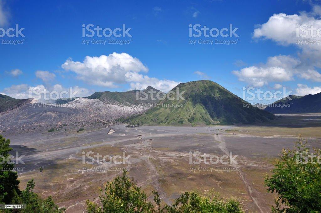 Mount Bromo in Indonesia stock photo