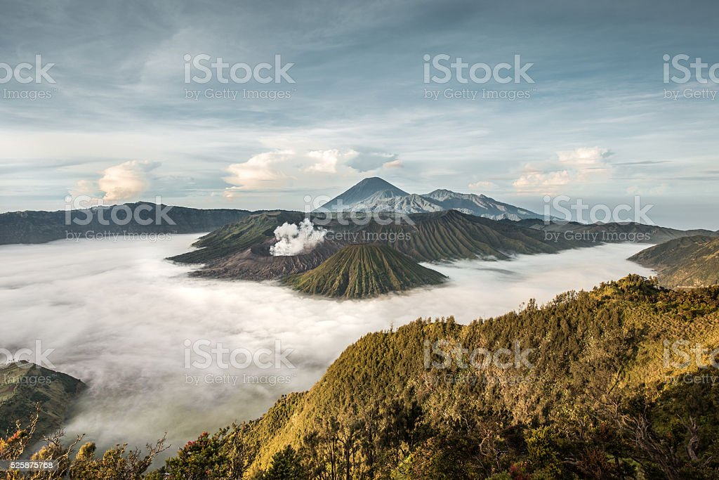 Mount Bromo in the morning stock photo