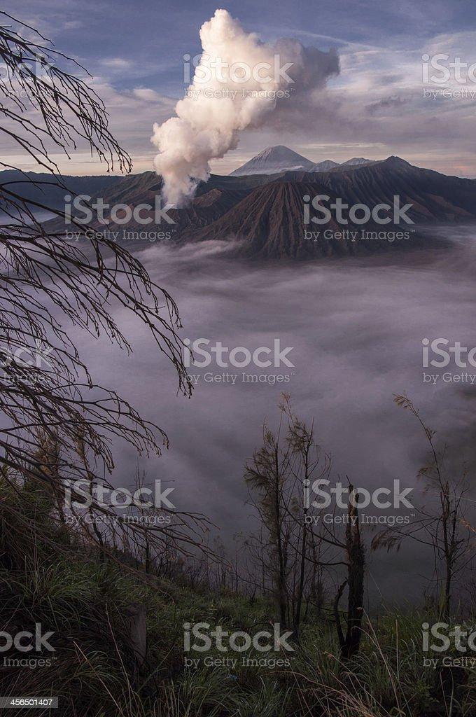 Mount Bromo Volcano, East Java, Indonesia royalty-free stock photo