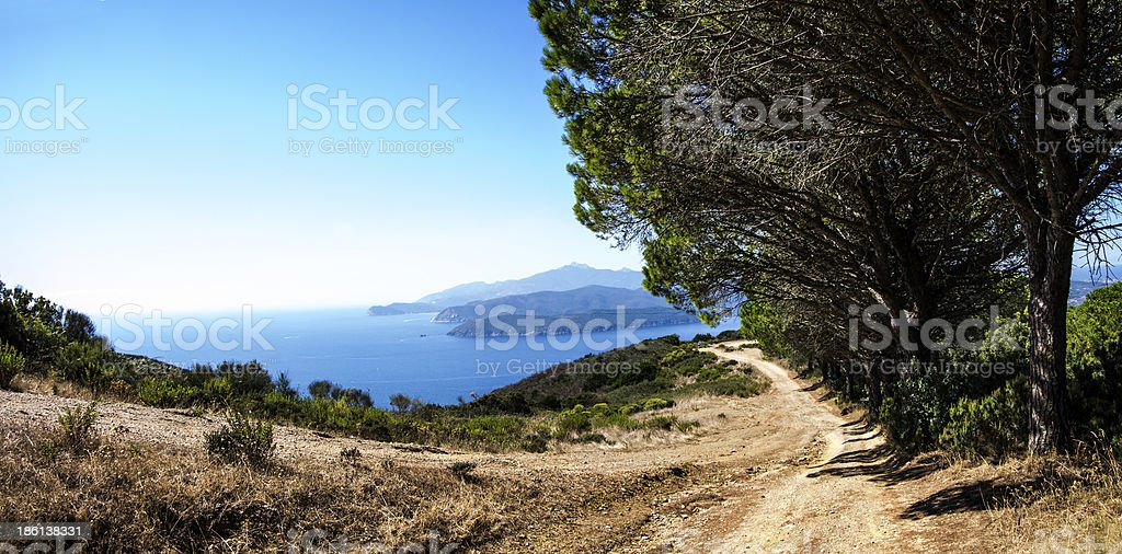 Monte Calamita Road stock photo