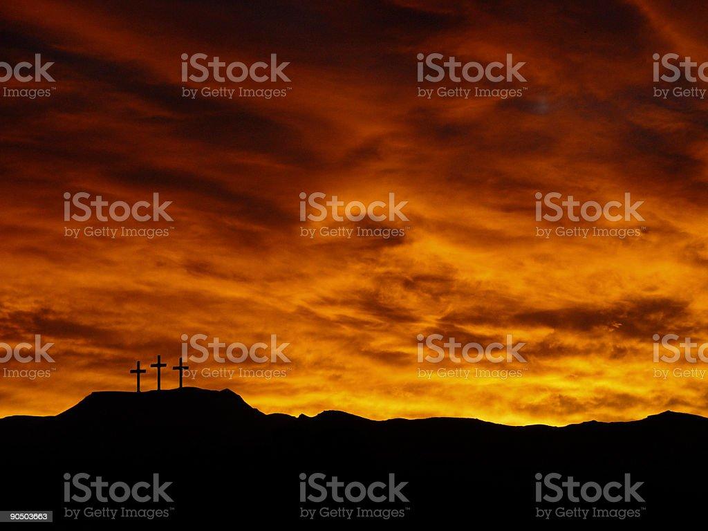 Mount Calvary - golgatha calgary crucifixion stock photo
