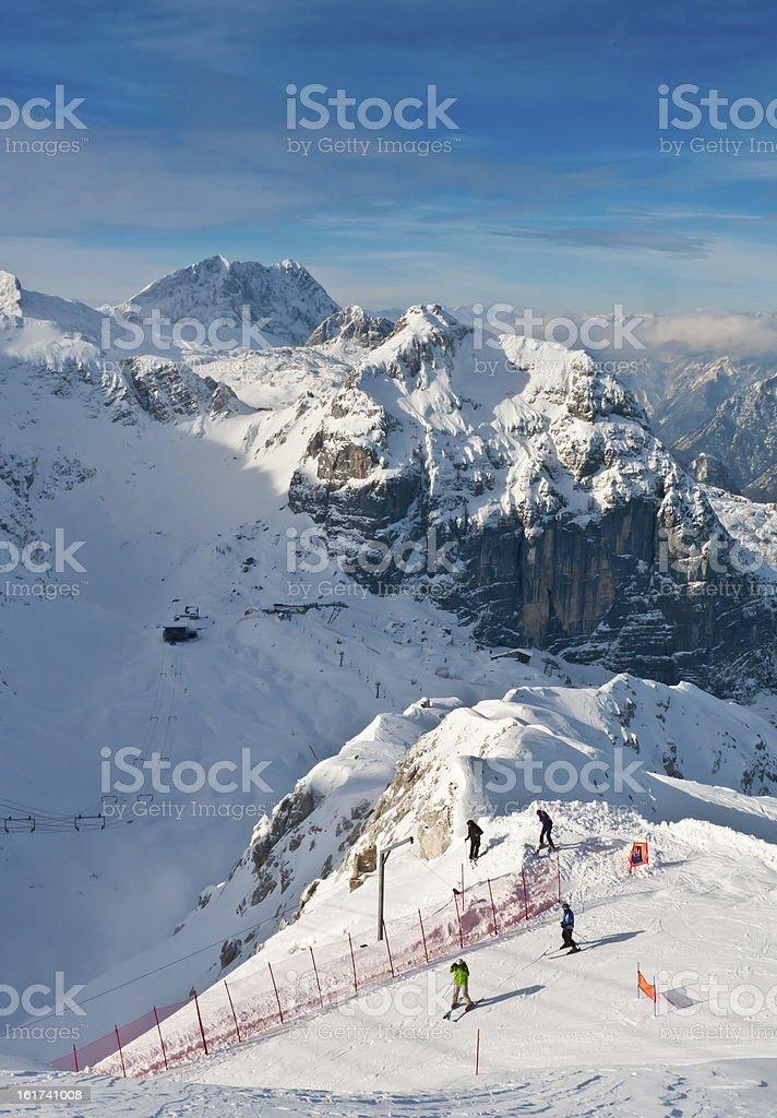 Mount Canin and Bilapec royalty-free stock photo