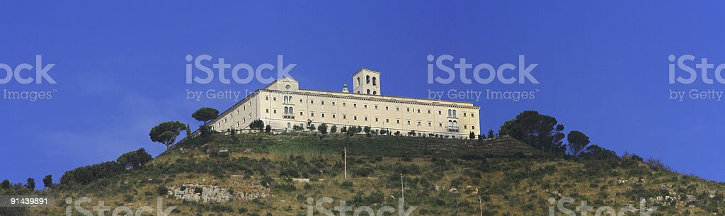 Monte Cassino royalty-free stock photo
