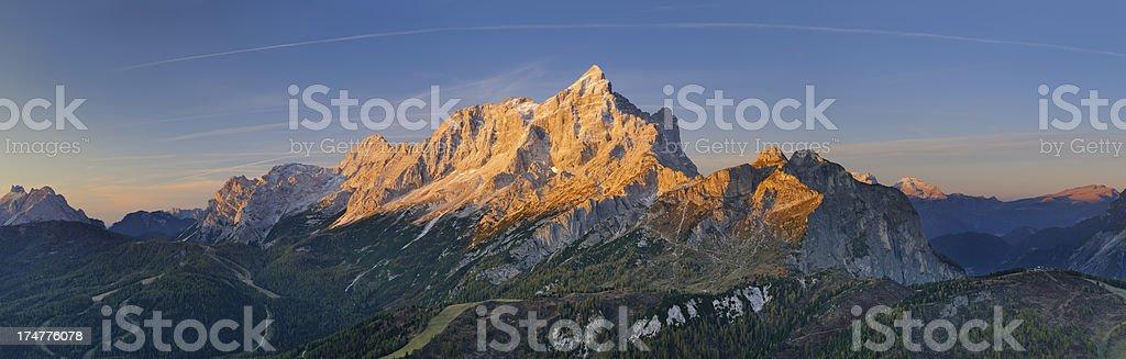Mount Civetta at Dawn (Dolomites - Italy) stock photo