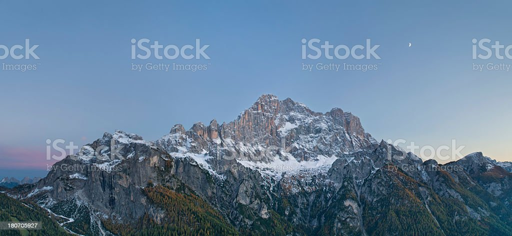 Monte Civetta al crepuscolo royalty-free stock photo