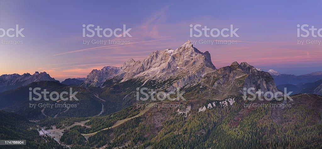 Mount Civetta at Twilight (Dolomites - Italy) stock photo