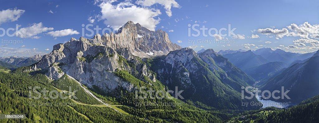 Mount Civetta Panorama (Dolomites - Italy) stock photo