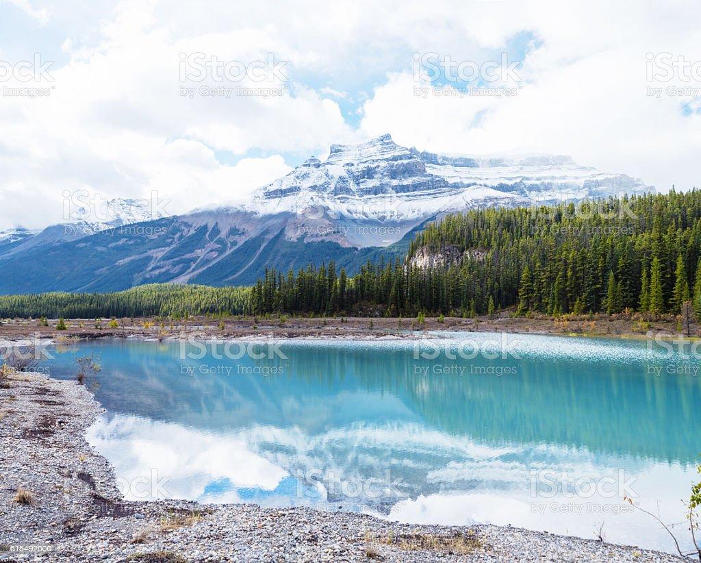 Mount Coleman, Canadian Rockies stock photo