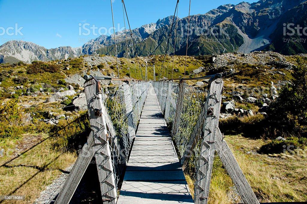 Mount Cook National Park - New Zealand stock photo