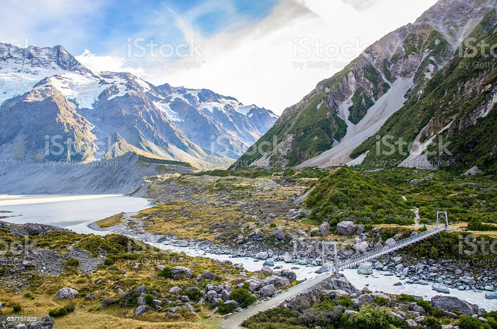 Mount Cook National Park,New Zealand stock photo