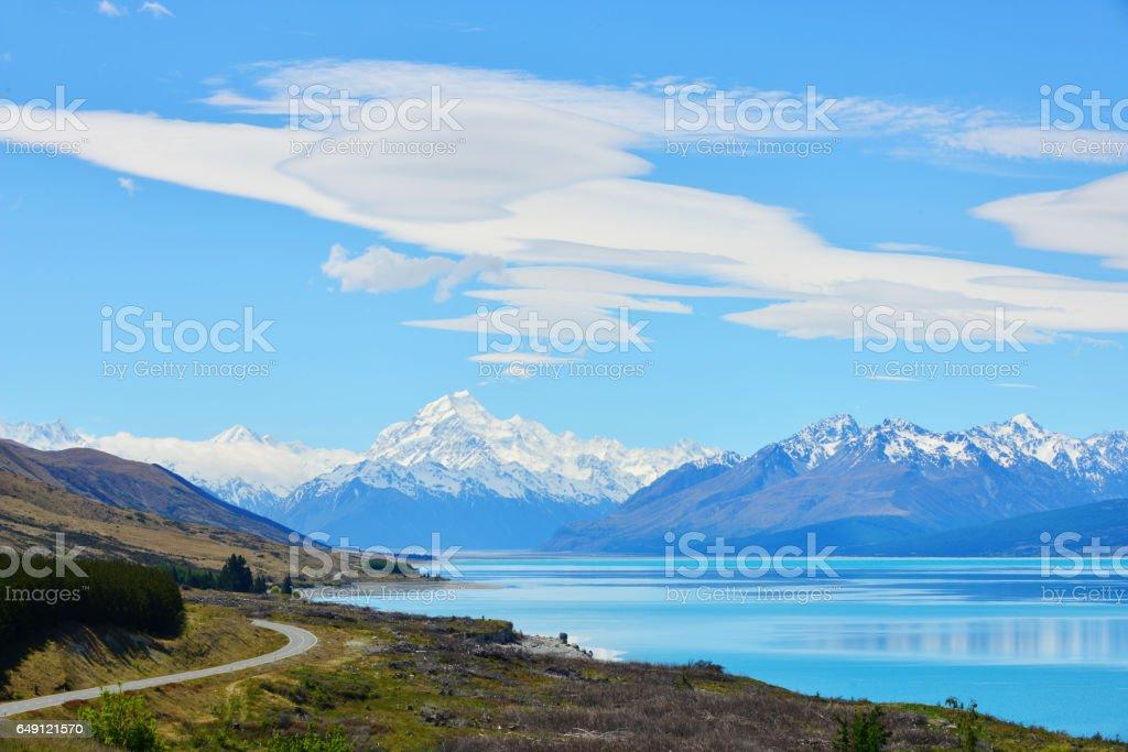 Mount Cook, New Zealand stock photo