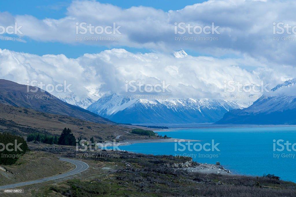 Mount Cook Summit stock photo