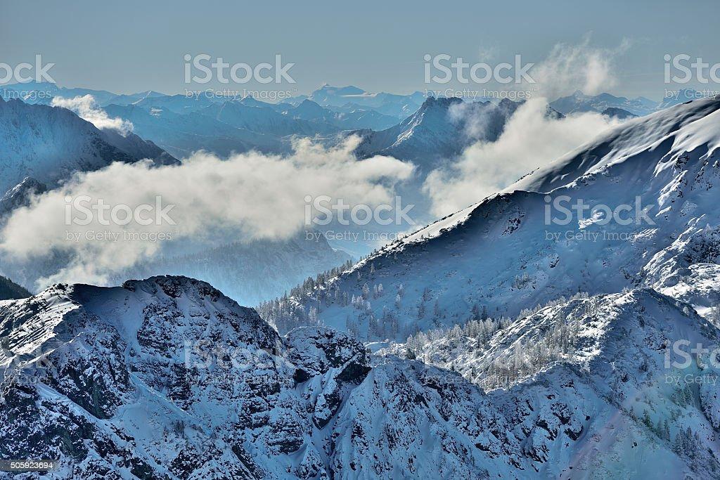 Mount Dachstein stock photo