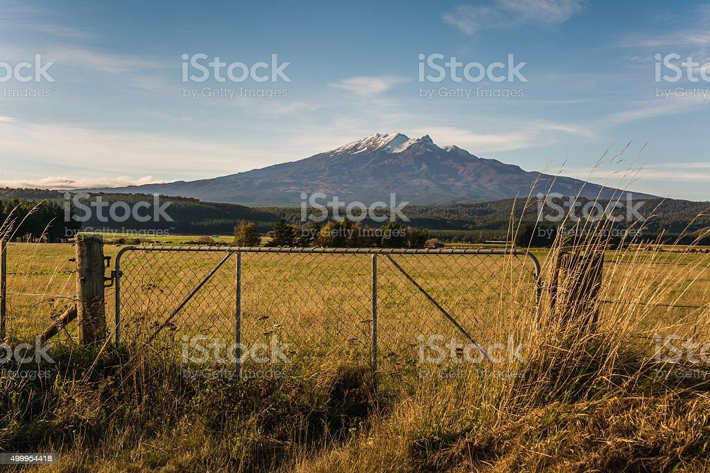 Mount Doom in the sun stock photo
