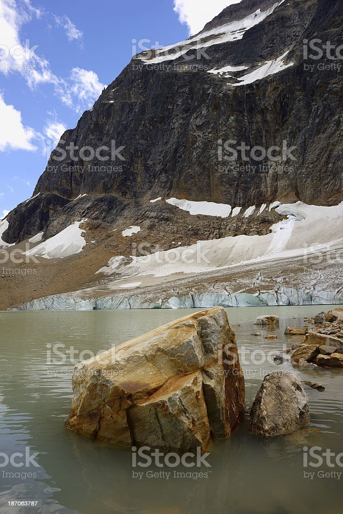 Mount Edith Cavell royalty-free stock photo