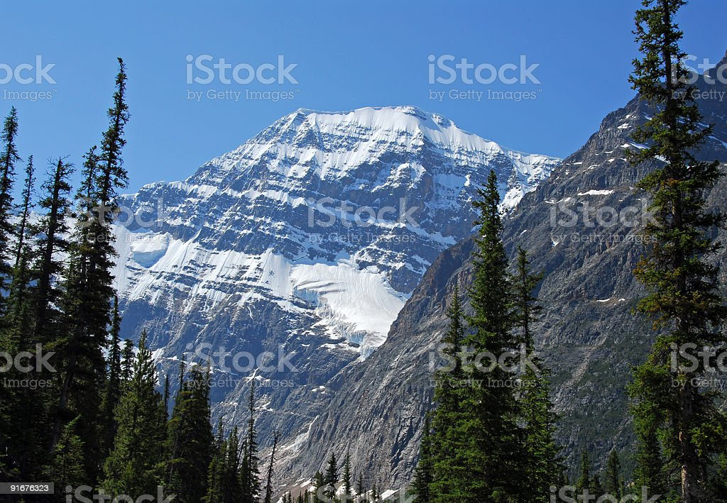 Mount Edith Cavell,Jasper National Park,Canada stock photo