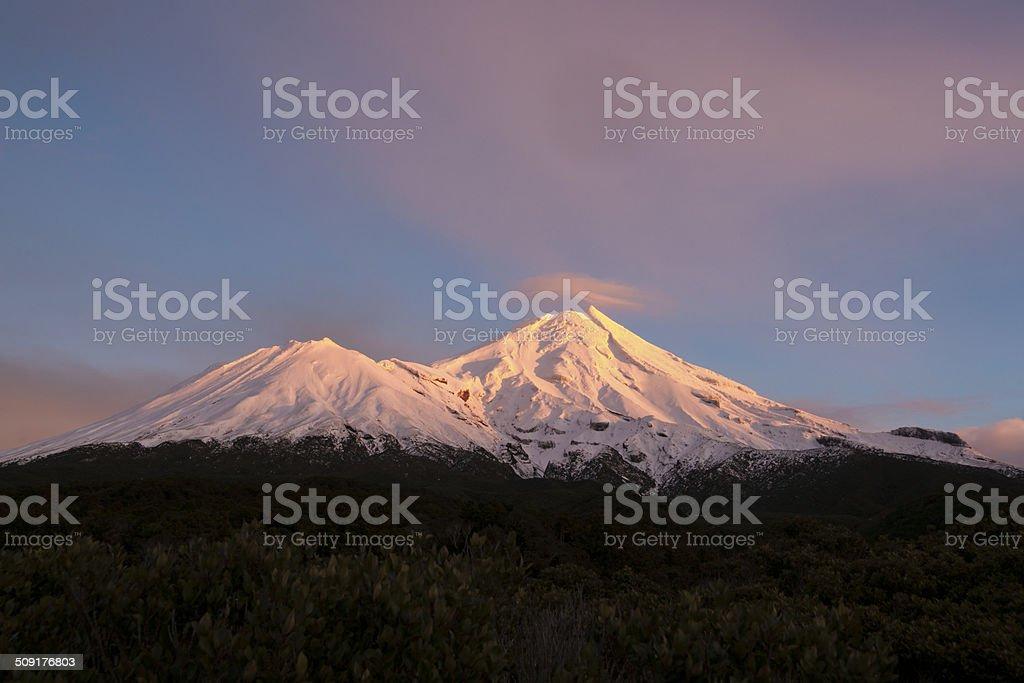 Mount Egmont. stock photo