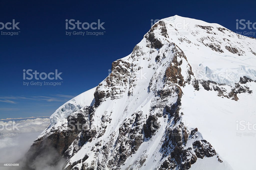Mount Eiger in the Jungfrau region, Swiss stock photo
