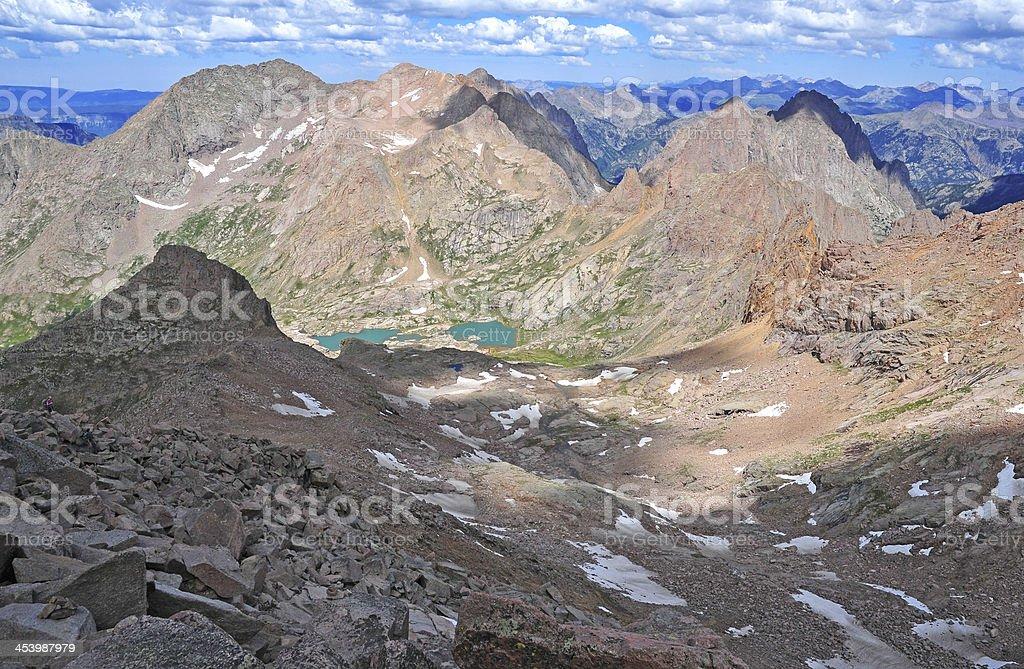Mount Eolus, Rocky Mountains, Colorado royalty-free stock photo