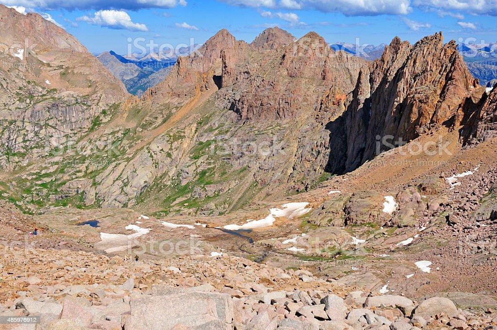 Mount Eolus, Rocky Mountains, Colorado stock photo