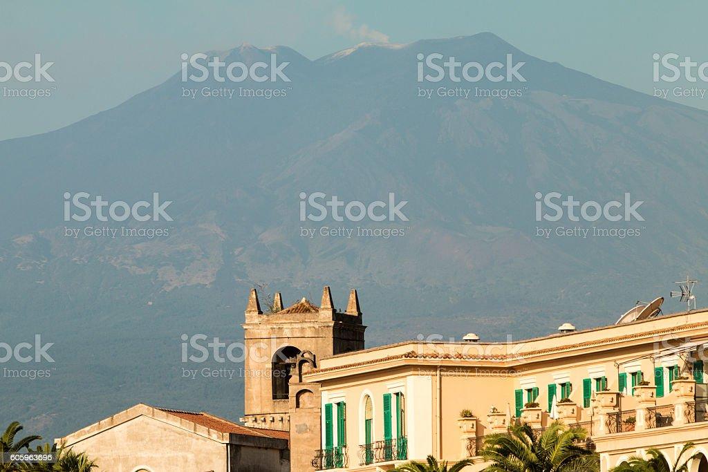 Mount Etna in Sicily, Italy stock photo