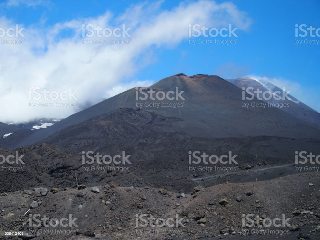 Mount Etna in Sicily stock photo
