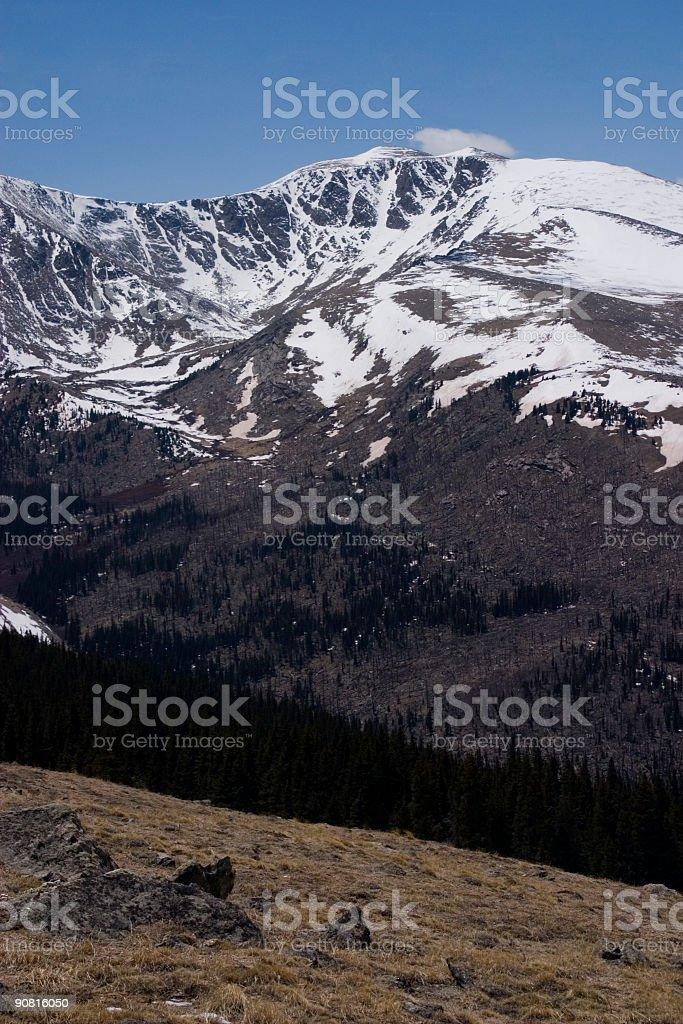 Mount Evans in Winter stock photo