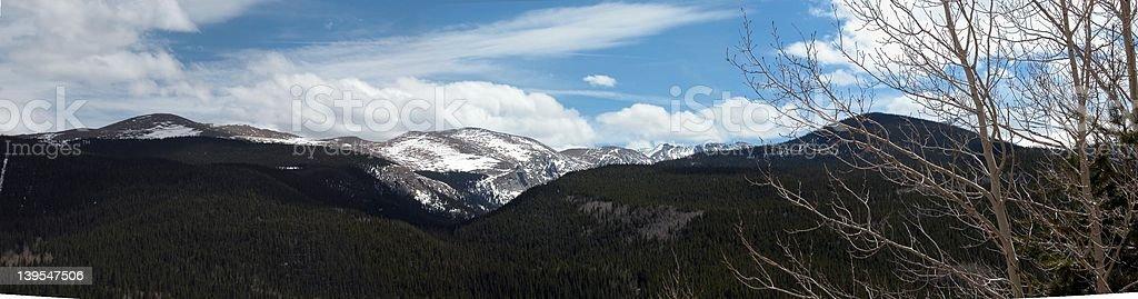 Mount Evans Panoramic stock photo