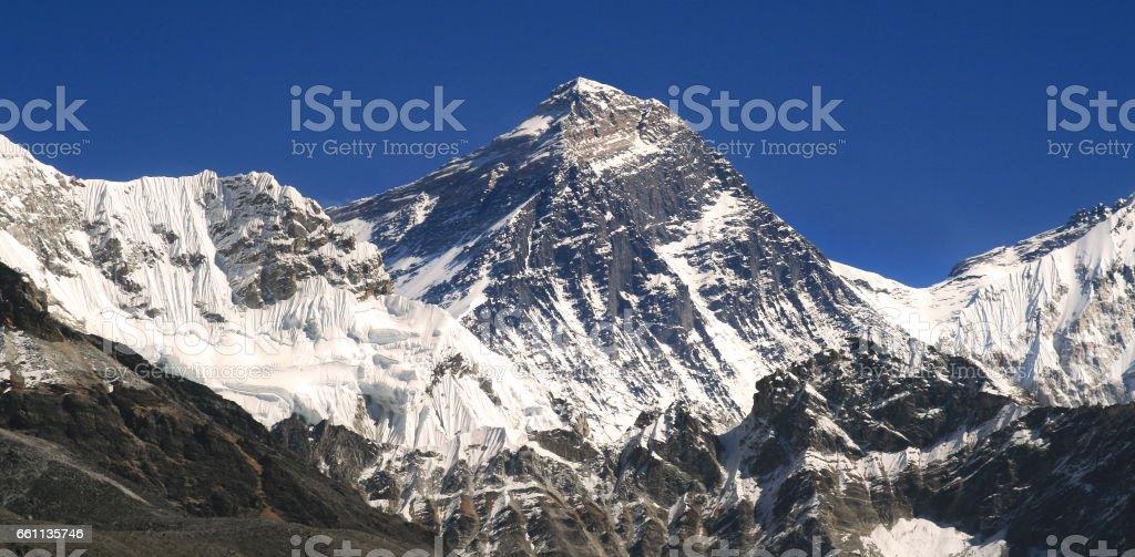 Mount Everest Highest Nepal Himalaya Mountains stock photo