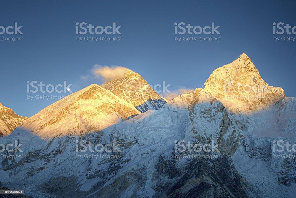 Mount Everest, Lhotse and Nuptse from Kala Pattar royalty-free stock photo