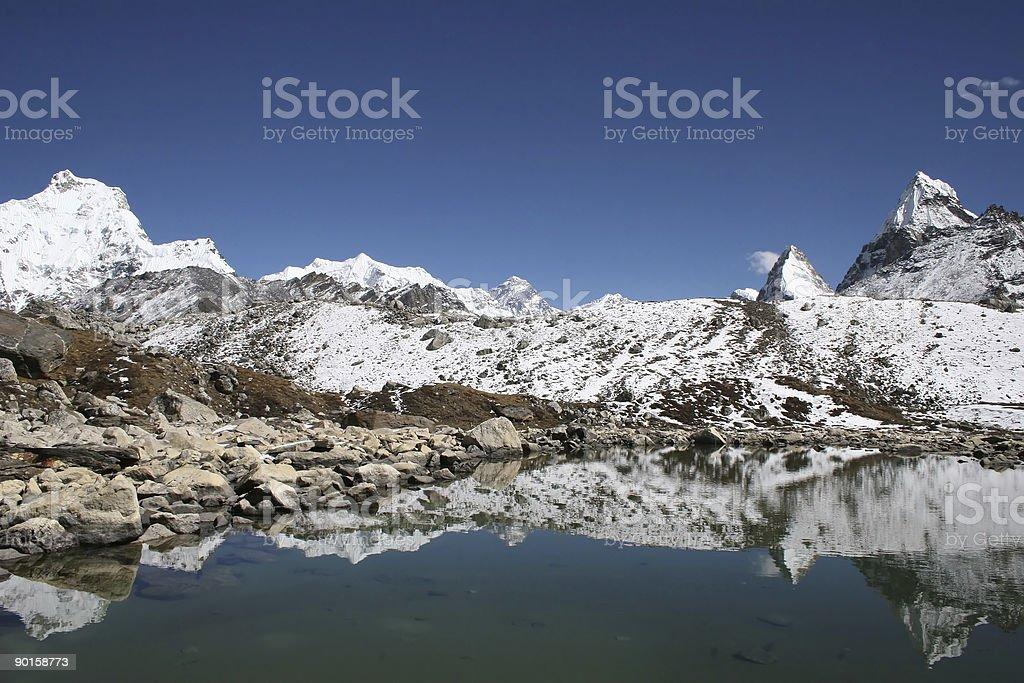 Mount Everest - Nepal royalty-free stock photo