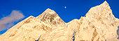 Mount Everest, Nuptse panoramic view