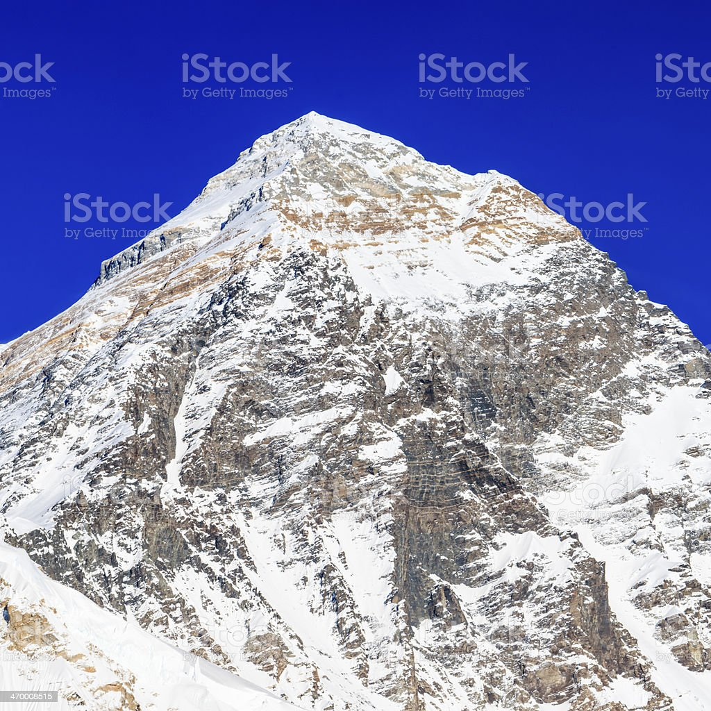 Mount Everest  panoramic view from Kala Pattar royalty-free stock photo