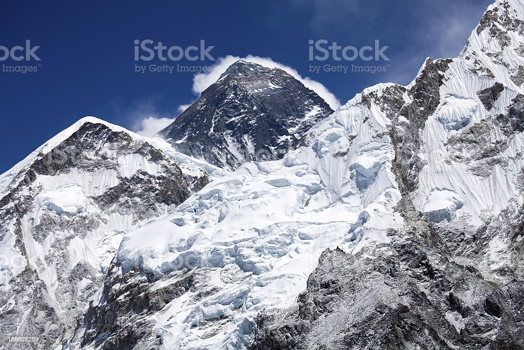 Mount Everest - roof of the world royalty-free stock photo