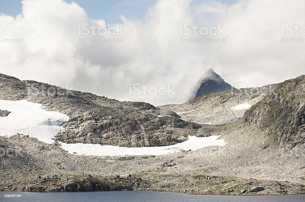 Mount Falketind 2068m in Jotunheimen National Park in Norway royalty-free stock photo