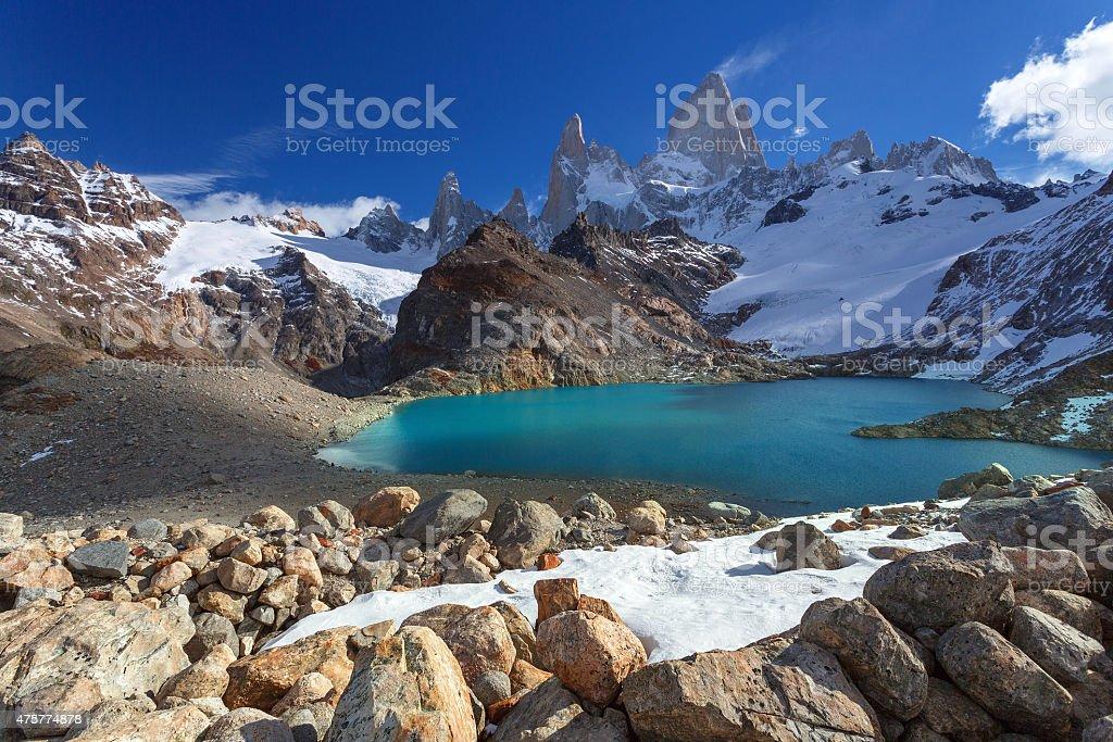 Mount Fitz Roy, Los Glaciares National Park, Patagonia stock photo