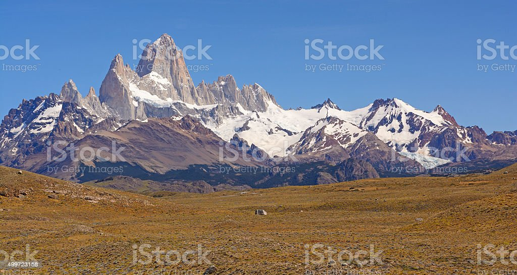 Mount Fitz Roy on a Sunny Day stock photo