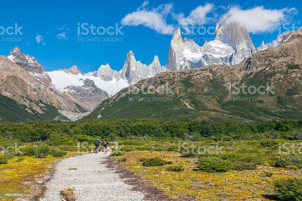 Mount Fitz Roy Patagonia Argentina stock photo