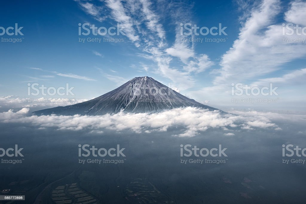 Mount Fuji at Japan stock photo