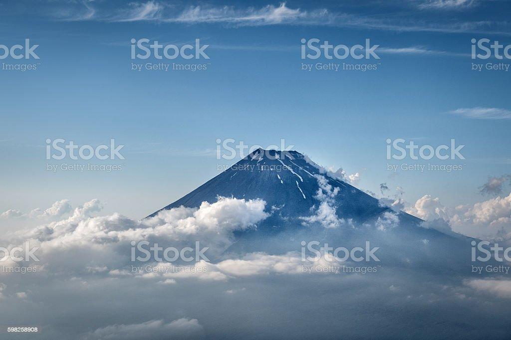 Mount Fuji at Japan stock photo