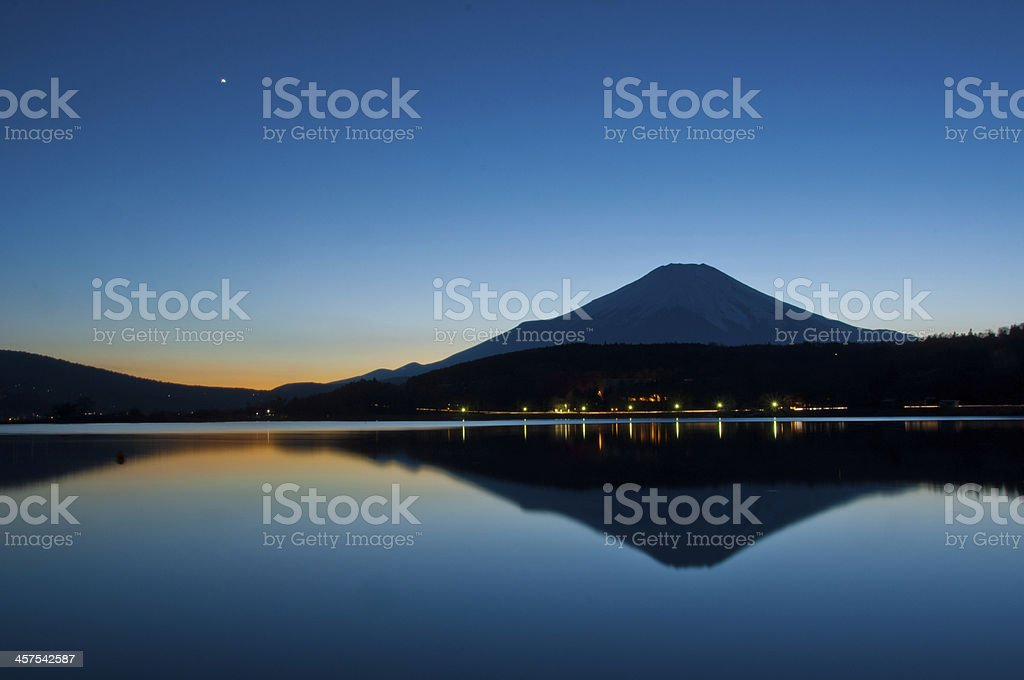 Mount Fuji at Twilight royalty-free stock photo