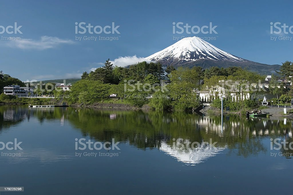 Mount Fuji from Kawaguchi lake in Japan royalty-free stock photo