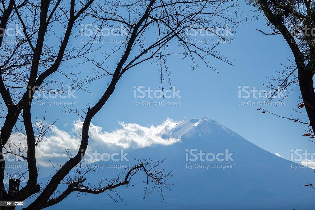 Mount Fuji in Autumn stock photo