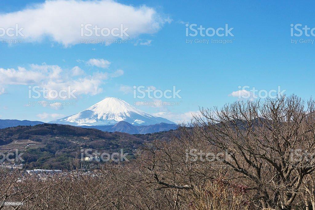 Mount Fuji to see from Ninomiya-machi stock photo